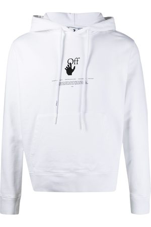 OFF-WHITE Hombre Con capucha - WHITE OFFF GRAFF SLIM HOODIE WHITE HIGH