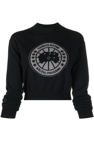 Canada Goose Intarsia-logo knit jumper