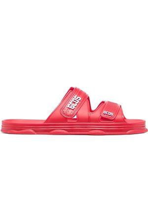 GCDS Hombre Flip flops - Sandalias con logo y cierre autoadherente