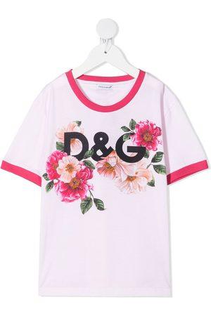 Dolce & Gabbana Niña Playeras - Floral-print T-shirt