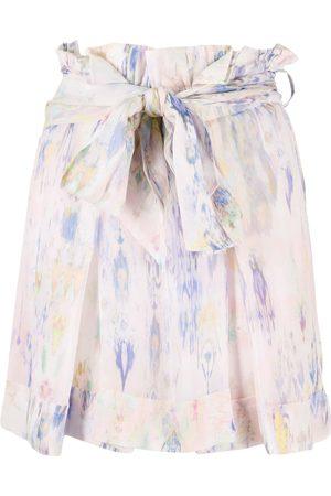 IRO Falda corta con estampado floral