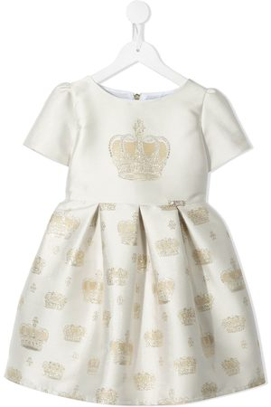 Lesy Crown-embroidered short-sleeve dress