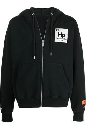 Heron Preston HOODIE ZIP UP HERONS HALO BLACK BLUE