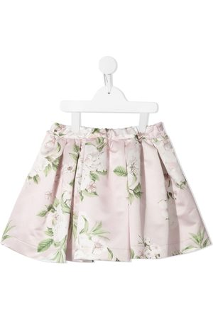 Piccola Ludo Floral-print pleated skirt