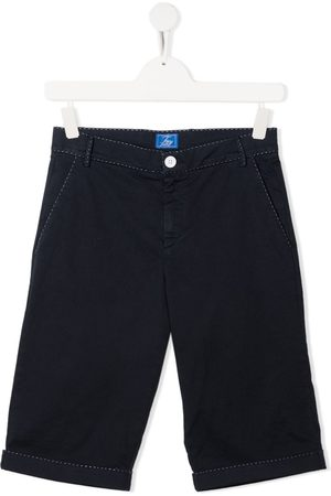 FAY KIDS Contrast-stitching cotton shorts