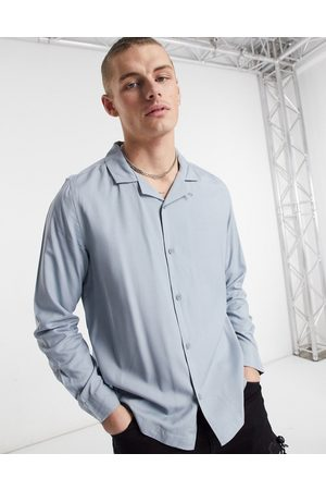 Topman Long sleeve shirt in grey