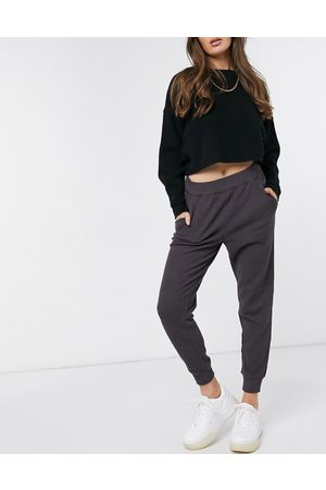 Aerie Waffle jogging bottoms in charcoal grey