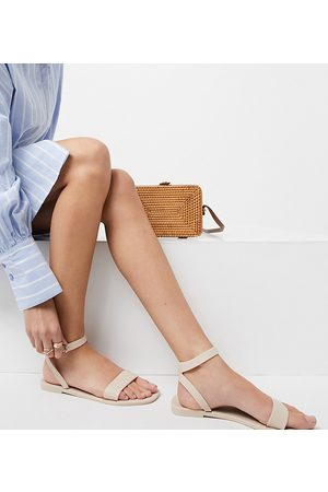 ASOS Wide Fit Fia jelly sandals in matte