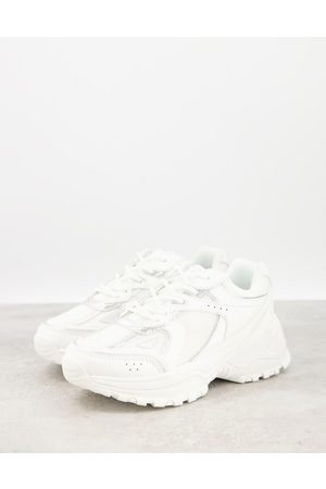 ASOS Dorri trainers with mesh in white