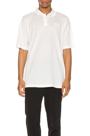Y-3 Pique polo en color blanco talla L en - White. Talla L (también en M, S, XL).