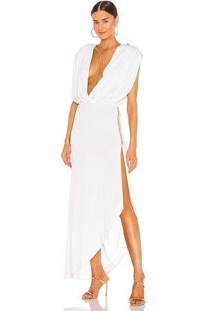 Retrofete Vestido midi florence en color talla M en - White. Talla M (también en XS).