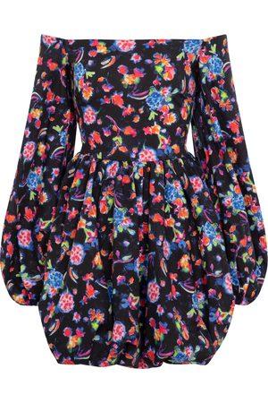 Caroline Constas Georgina floral cotton-blend minidress