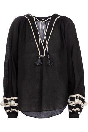 JOHANNA ORTIZ Mujer Blusas - Cursos Del Rio linen and cotton blouse