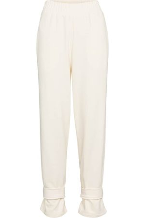 Frankie Shop Cuffed cotton terry trackpants