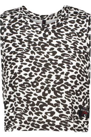 Adam Selman Sport Sleep leopard printed top