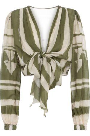 JOHANNA ORTIZ Camino Inca printed cotton crop top