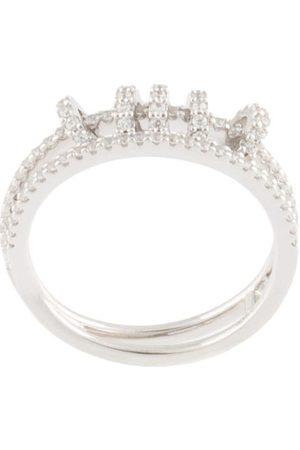 APM Monaco Mujer Anillos - Anillo doble con detalle de anillos