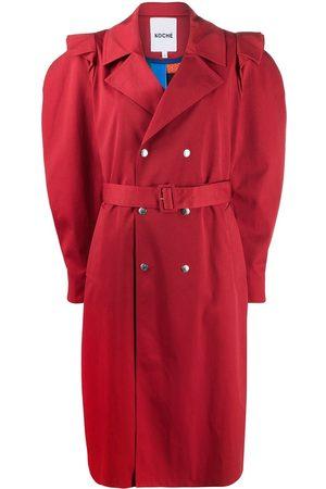 KOCHÉ Mujer Gabardinas - Abrigo con doble botonadura