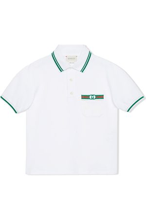 Gucci Playera tipo polo con motivo Interlocking G