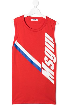 Msgm Camiseta con logo estampado