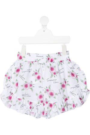 MONNALISA Shorts - Shorts con rosa estampada