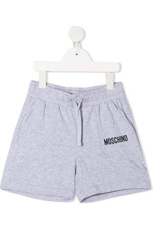 Moschino Kids Niño Bermudas - Logo print shorts