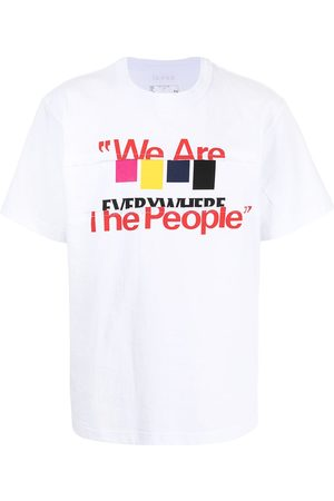 SACAI Hombre Playeras - Camiseta con eslogan estampado