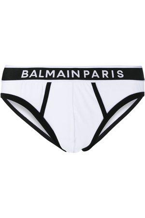 Balmain Hombre Calcetines - Ropa interior con logo en la pretina