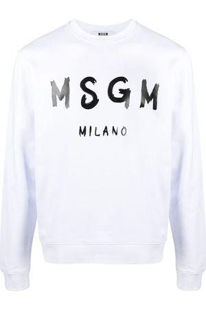 Msgm Hombre Sudaderas - Sudadera con logo estampado