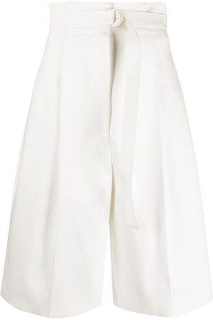 Serafini Mujer Shorts - Bermudas anchas con cinturón