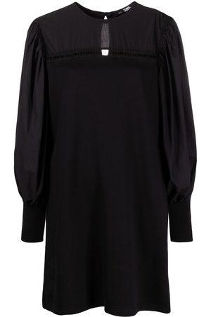 Karl Lagerfeld Mujer Rectos - Vestido recto con varios tejidos