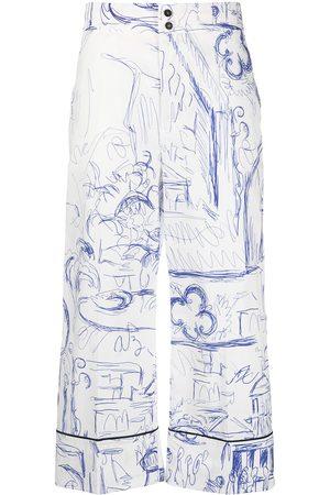 ERIKA CAVALLINI Mujer Capri o pesqueros - Pantalones capri con motivo de boceto