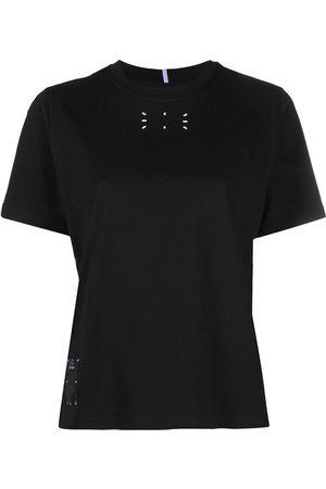 McQ Mujer Playeras - Camiseta con estampado gráfico