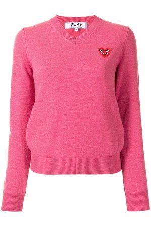 Comme des Garçons Mujer Suéteres - Jersey con logo en forma de corazón