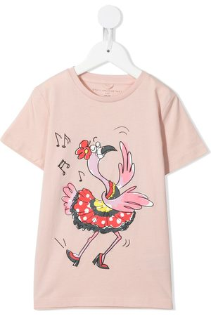 Stella McCartney Niña Playeras - Dancing Flamingo print T-shirt