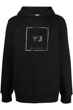 Y-3 Con capucha - Logo-print cotton hoodie