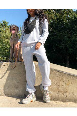 ASOS Tracksuit oversized sweat / oversized jogger in grey marl