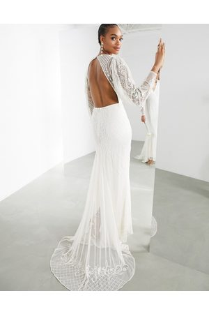 ASOS Lucy placement beaded wedding dress