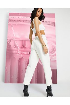 ASOS High rise 'original' mom jeans in off white