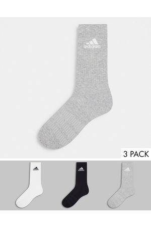 adidas Adidas Running 3 pack cushioned crew socks in multi