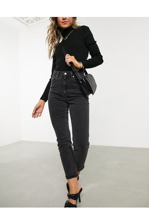 ASOS High rise farleigh 'slim' mom jeans in washed black