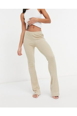 Chelsea Peers Eco soft jersey rib lounge trouser in stone