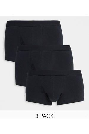 ASOS 3 pack short trunks in black