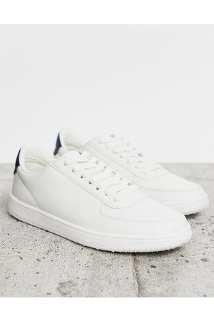 ASOS Vegan trainers in white with contrast heel tab