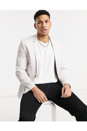 ASOS Super skinny cotton blazer in lilac grey