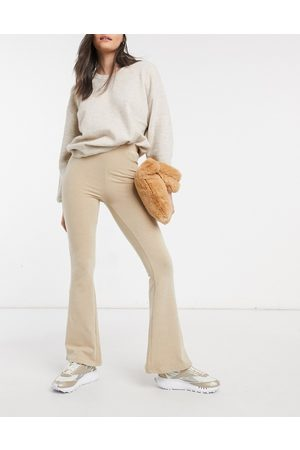 ASOS Kick flare trouser in oatmeal marl