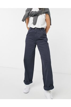 ASOS Slouchy chino trouser in navy