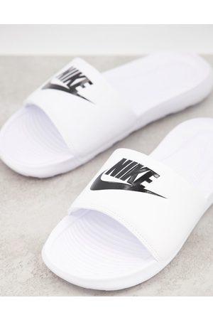 Nike Victori One sliders in white