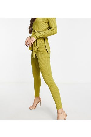 Club L London Ribbec fitted trousers in green