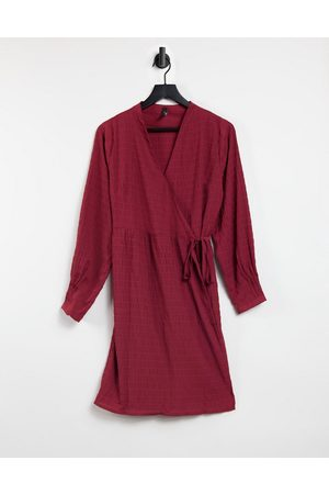 Y.A.S Wrap mini dress in red